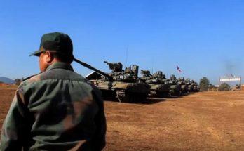 Россия передала Лаосу очередную партию танков Т-72Б1 и БРДМ-2М